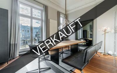 Hamburg – Harvestehude | Moderne Maisonette in exklusiver Wohnlage mit Dachterrasse, Garage, Jacuzzi